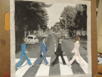 A Splash of Color in Abbey Road by Perreh