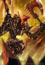 WoW TCG - Raja'sul the Relentless by SpineBender