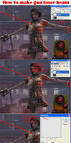 How to make gun laser beam by GRAPHICSOUL