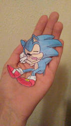 Classic Sonic Paperchild by ChibiAsh07