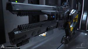 Rail Gun Xeno Render 1 by pauldavemalla