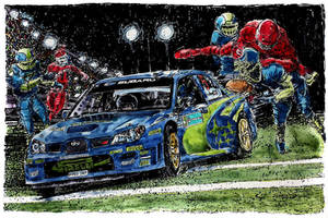 Subaru Impreza WRC Rally 'The Pass 2' by ferrariartist