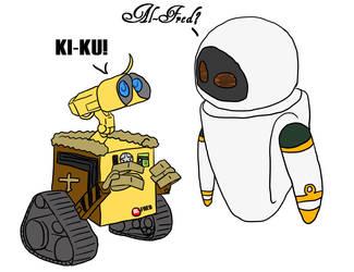 Al-Fred and Kiku by kitsunesakurano