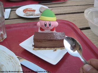 Me vs Kirby for a cake by CJ-DB
