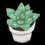 pixel succulent baby by Iguanodoo