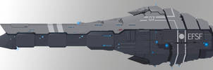 EFSF Battleship by Ivkol