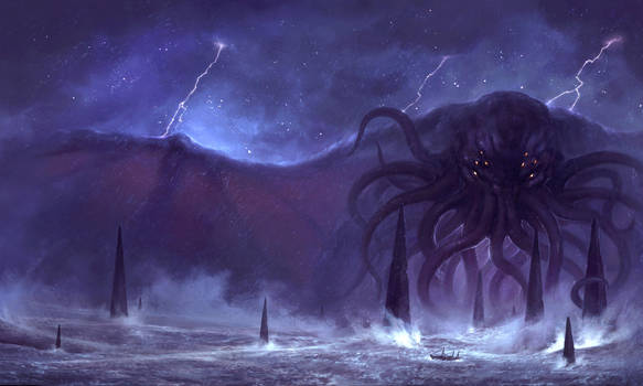 Call of Cthulhu 7th ed cover by MoonSkinned