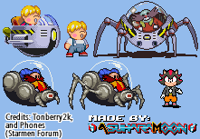 [Custom Sprites] Random Mother 2/3 and Sonic stuff by AsuharaMoon