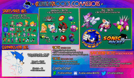[OPEN] AsuharaMoon's Commissions by AsuharaMoon