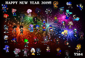 : . Happy New Year 2019! . : by YoloStarling84