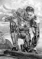 Tony Stark aka IRON MAN aka Robert Downey Jr. by Mim78