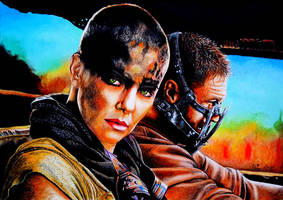 Charlize Theron and Tom Hardy, MAD MAX Fury Road by Mim78
