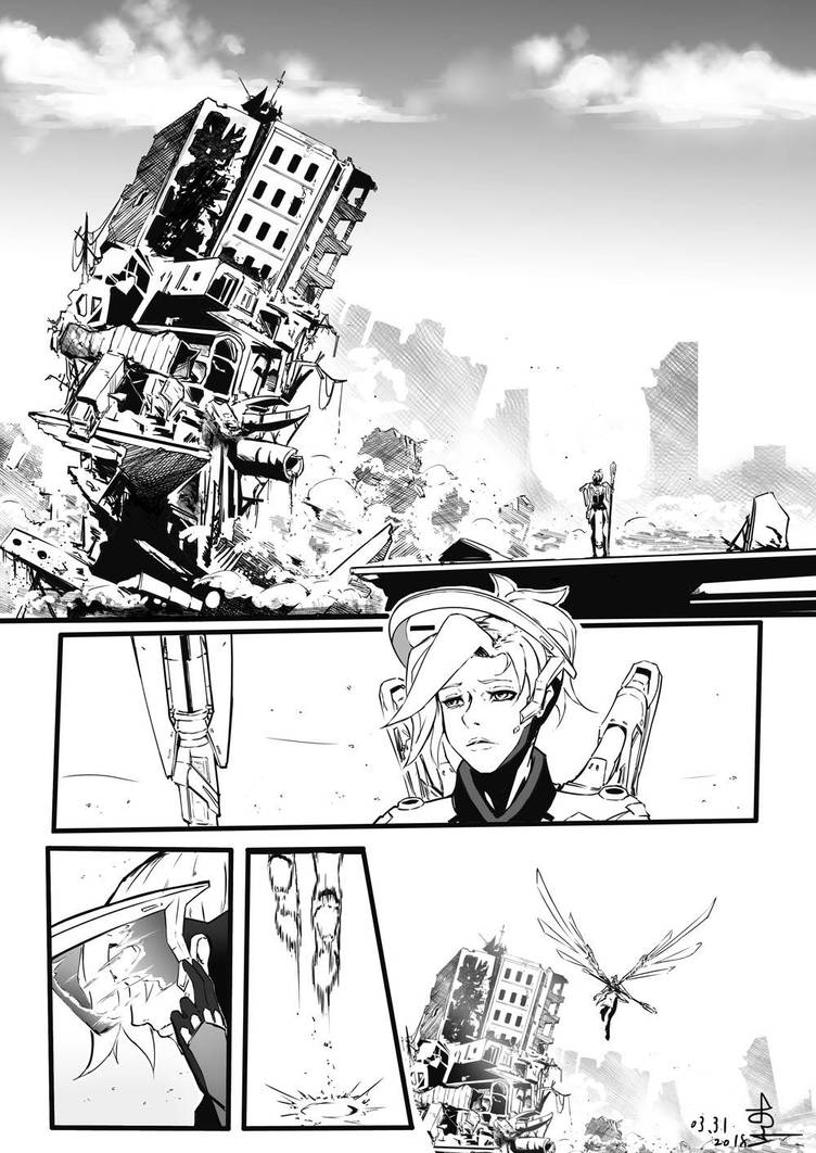 OVERWATCH FAN COMIC - MERCY01 by Hitchlee