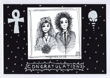 Death and Dream Wedding Card by Imaginata
