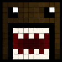 Domo Kun Pixels by Queen-obsession