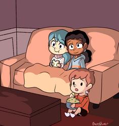 Movie Night by CherryLoArt