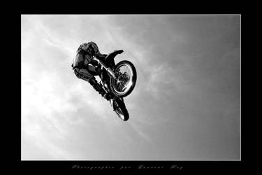 Motorbike in the sky 1 by laurentroy