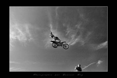 Motorbike in the sky 2 by laurentroy