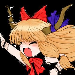 Suika Ibuki Chibi by EvilReiv