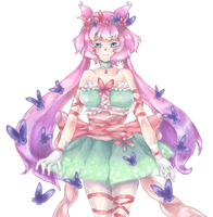 character design-butterfly fairy by Moneyfunny