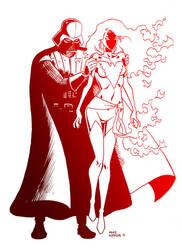 Darth Vader and Dark Phoenix by iliaskrzs