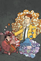 DIRK GENTLY salmon of doubt  #1 cover by iliaskrzs