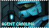 RED VS BLUE Agent Carolina Stamp by foxedjaws