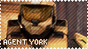 RED VS BLUE Agent York Stamp by foxedjaws