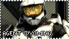 RED VS BLUE Agent Wyoming Stamp by foxedjaws