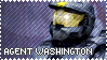 RED VS BLUE Agent Washington Stamp by foxedjaws