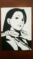 Mia Fey Spray Paint Art by CloudsOfVision