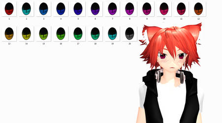 MMD Cat Eyes texture DL by TotodileDash