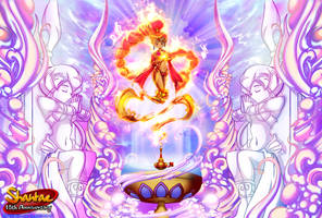 Genie realm Guardian - Shantae's Mother by hachimitsu-ink