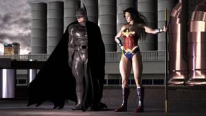 Cyber Joke Part 02-1: Batman and Wonder Woman by adorety