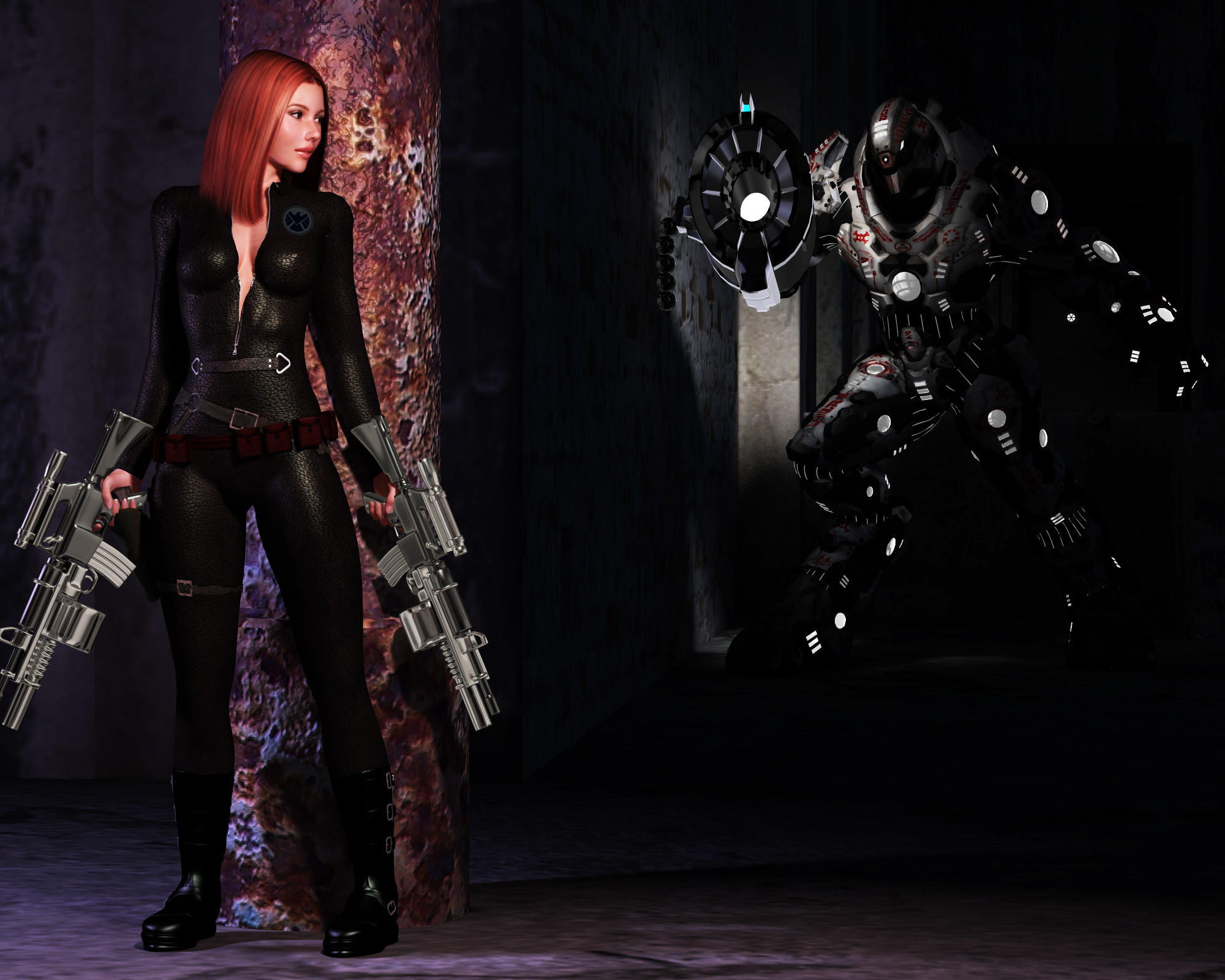 Black Widow Infiltrate by adorety