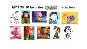 My Top 10 favorites Peanuts characters by Dzeko17