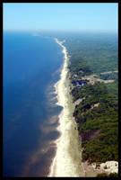 Lake Michigan coastline by Paladin27
