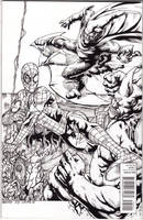 Spiderman Battle Royale Back cover by JesterretseJ