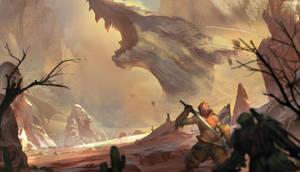 The Final Showdown monster hunter 4 fan art by JoeTheSix