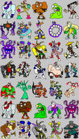 clay fighter: all characters by DangerMD