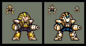 Mega Man 4: Pharaoh Man (Sprite) by DangerMD