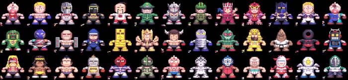 Kinnikuman Super M.U.S.C.L.E. Grand Prix (Sprite) by DangerMD