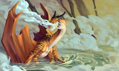 Smoke dragon by drakkor