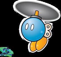 Blue Designbomb - Mario and Luigi: SS Paper Style by ShadowLifeman