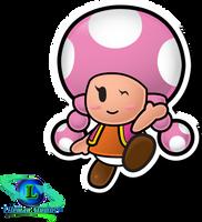 Toadette - Paper Mario: TTYD by ShadowLifeman