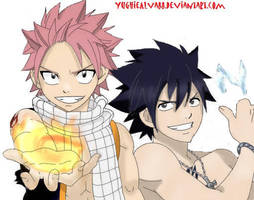 Natsu Dragneel and Gray Fullbuster, Eternal Rivals by YughieAlva88