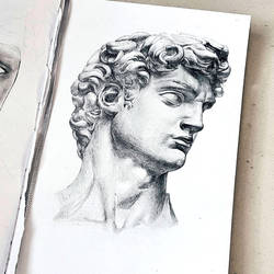 Sketch Michelangelo's David by me-erased