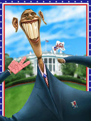 Barack Obama caricature by CASTELLO