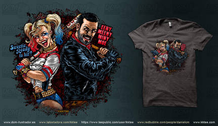 Harley and Negan by kktee by CASTELLO