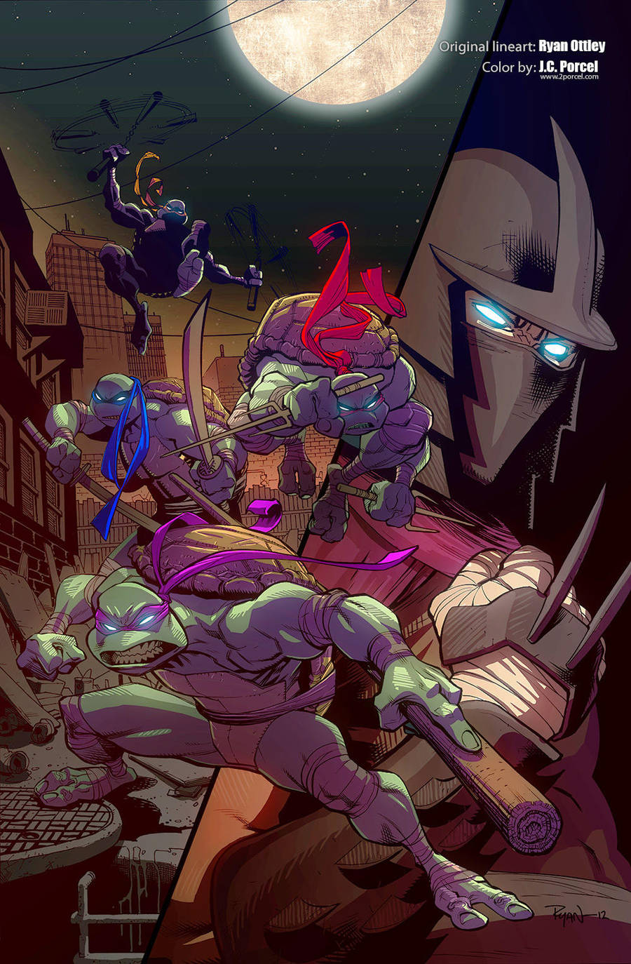 TMNT by Ryan Ottley, painted by me by evilself